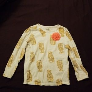 Long Sleeve 3T Cute Leopard Shirt With Flower